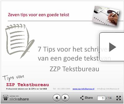 Een voorbeeld van een Slideshare Presentatie